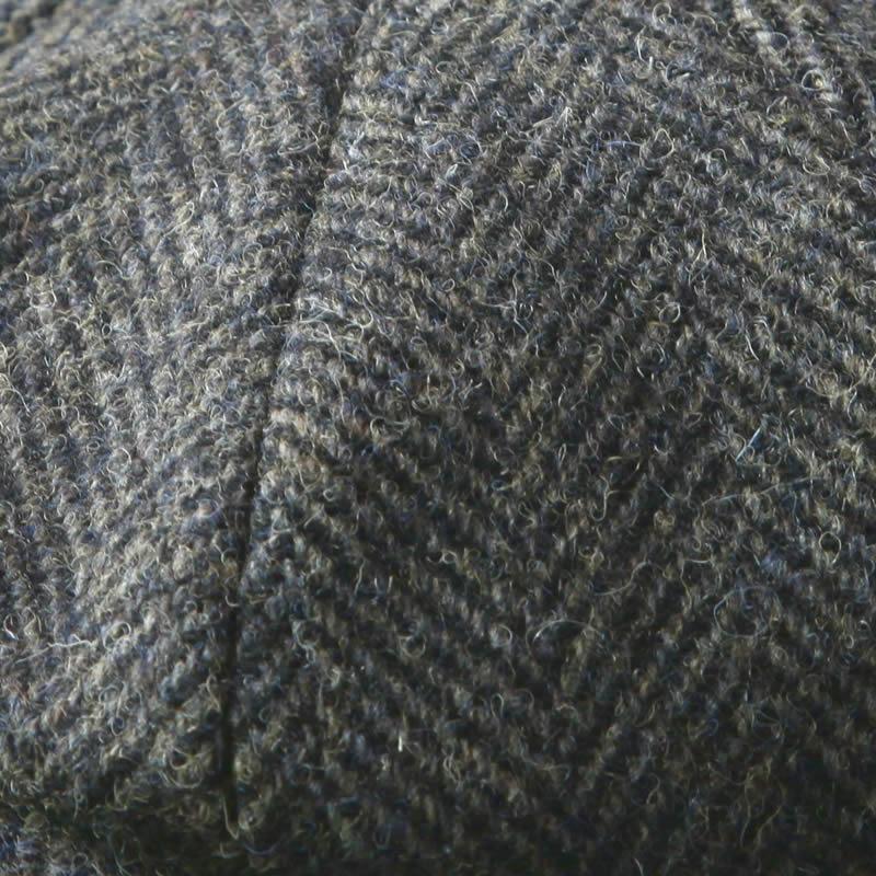 Harris Tweed Wool Baker Boy The Greenbank Grey Heather