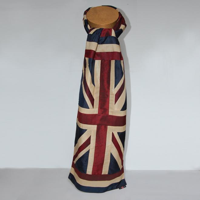 Union Jack Silk Scarf