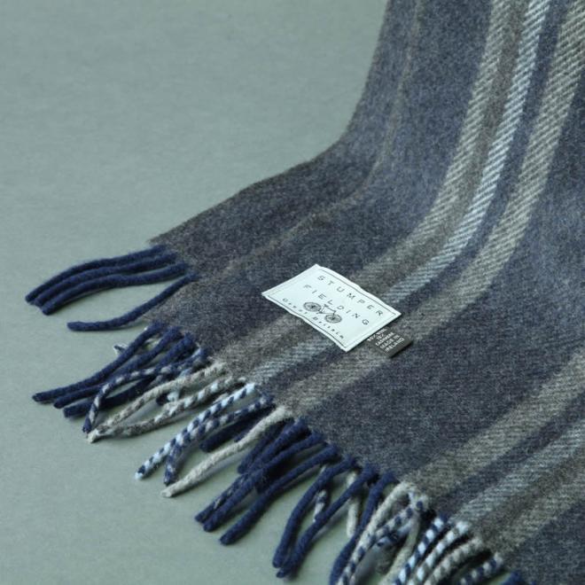 Cashmere Blend Stripe Scarf