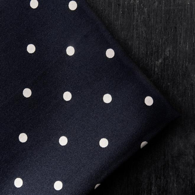 Black Silk Polka Dot Pocket Hankie