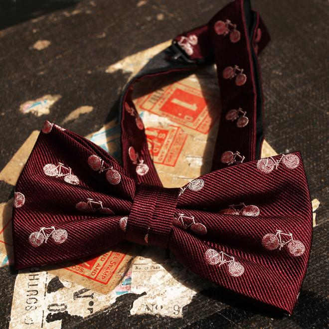 Stumper and Fielding Burgundy Bike Bowtie