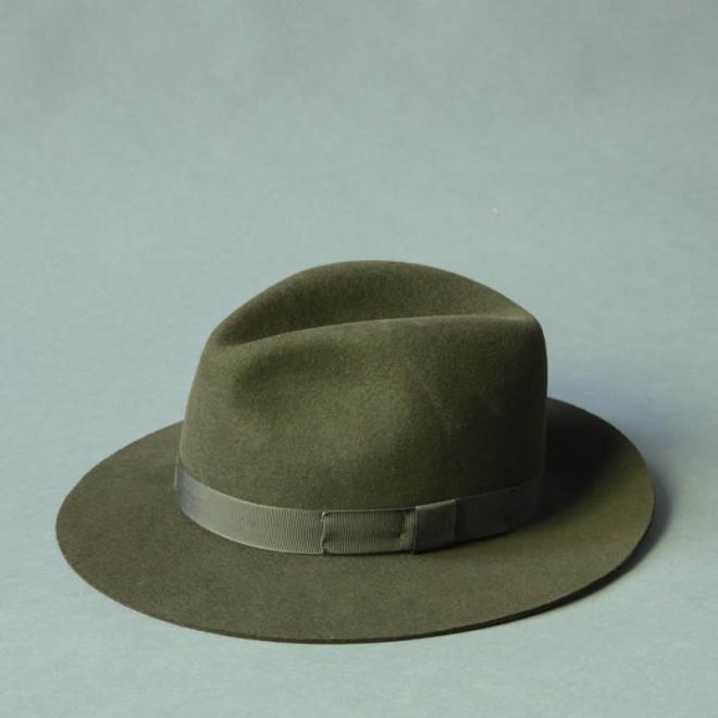 Fur-Felt Fedora Green