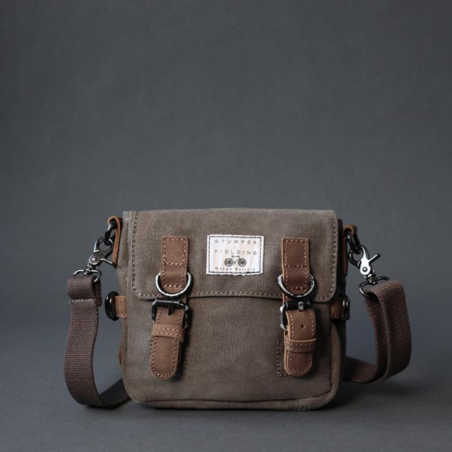 Khaki Cotton Field Bag 'The Buckley