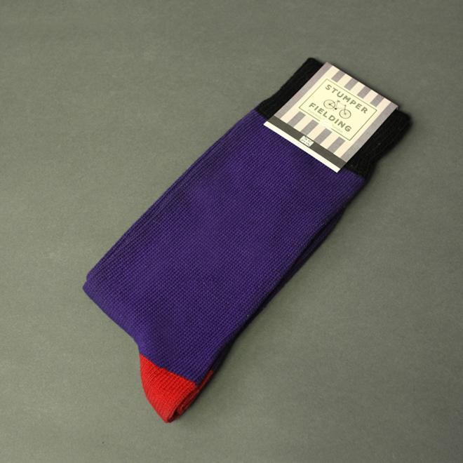 Purple Red Socks