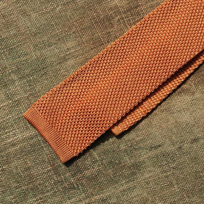 A Gold Silk Tie