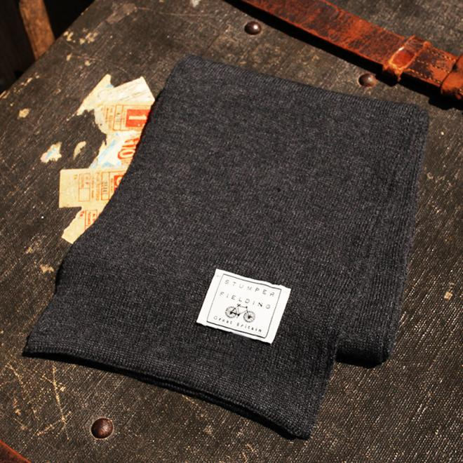 Charcoal 100% Pure New Woollen Scarf