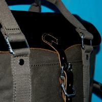Cotton Leather Satchel