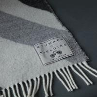 Pure Wool union Jack Blanket-Grey/Off-white