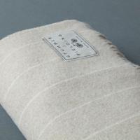 Wool Pinstripe Blanket Beige