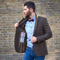 Men s slim cut Harris Tweed Jacket