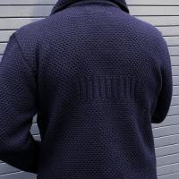 Navy Wool Men s Cardigan