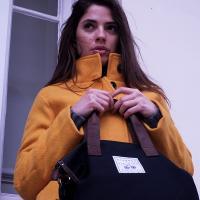 Ladies Plain Black Shopper Bag (C)