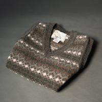 FairIsle Sleeveless Sweater Silver Grey