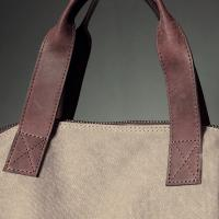 Ladies Khaki Shopper Bag (A)