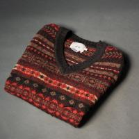 Fair-Isle Sleeveless Sweater Oxford