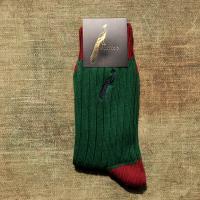 Hortons Racing Green and burgundy Socks