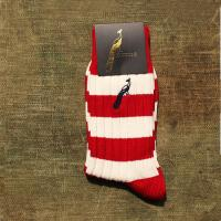 Hortons Red and White Striped Socks