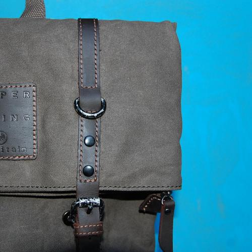 Wax Cotton Rollover Rucksack