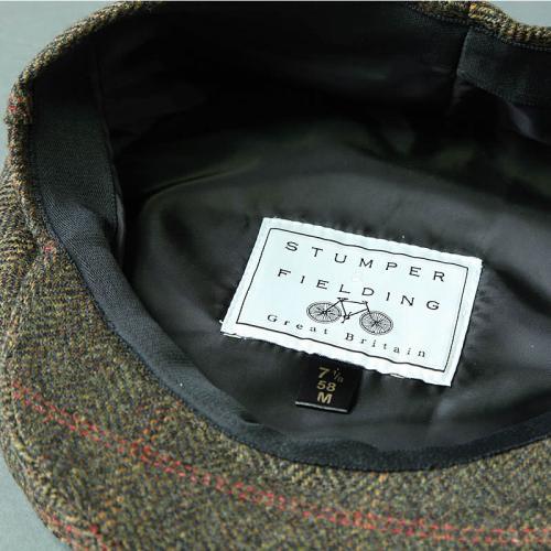 Pure Wool Tweed Flat Cap