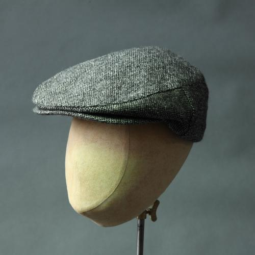 Pure Wool Tweed Flat Cap