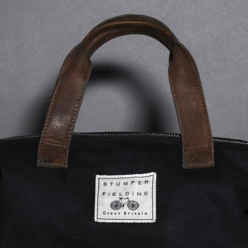 Plain Black Canvas Shoulder Bag