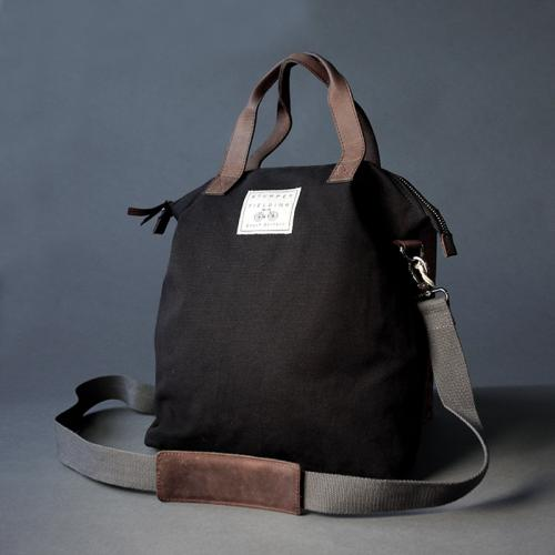 Ladies Plain Black Shopper Bag (C)