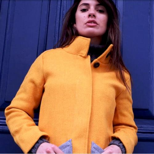 Ladies Bright Yellow Harris Tweed Jacket