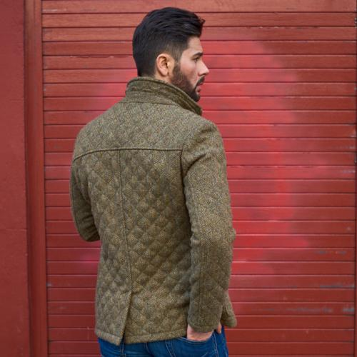 Men s quilted Harris Tweed Jacket