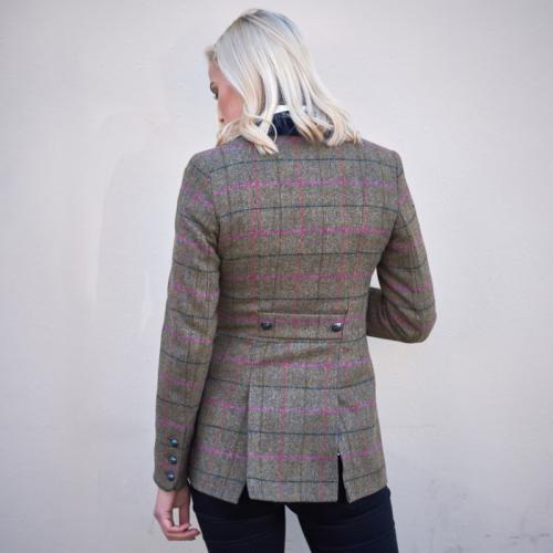 Women's Tweed Jacket-Checked
