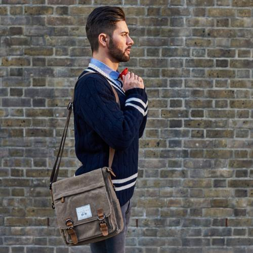 Khaki Cotton Field Bag 'The Loxley' (Khaki shown)
