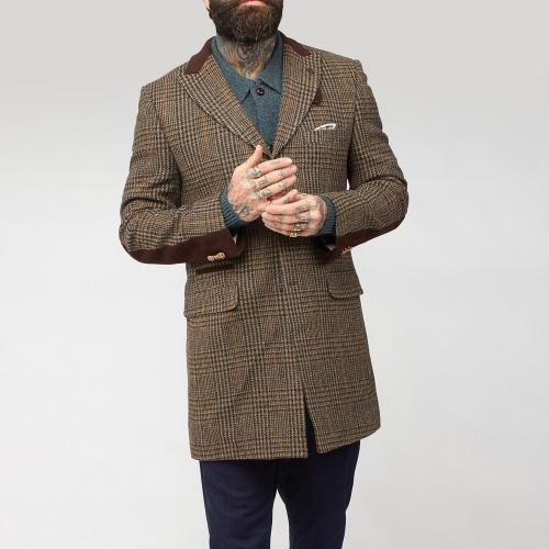 Mens-Tweed-Overcoat-Single-Breasted