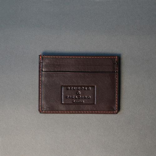 Brown and Orange trim Card Holder