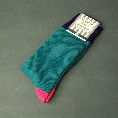 Teal and Pink Socks