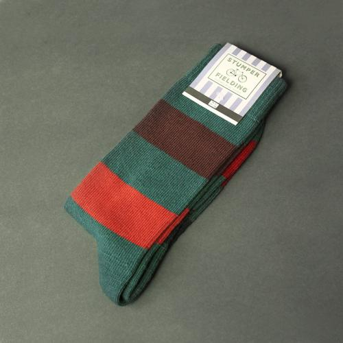 Brown orange and green Socks