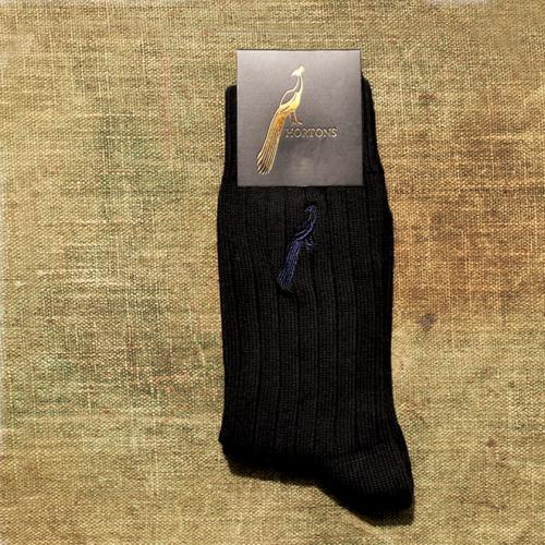Hortons Jet Black and Navy Socks