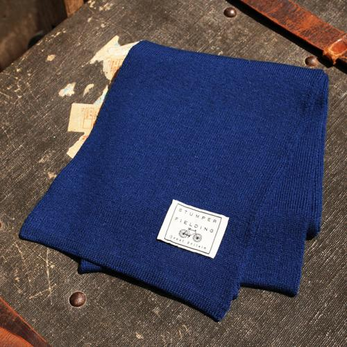 Royal Blue 100% Fine Pure New Woollen Scarf